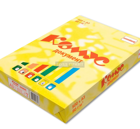 Бумага Комус А3, 80 g/m, 500л