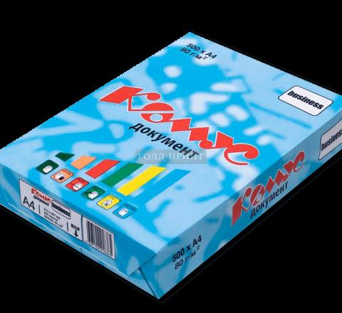 Бумага Комус А4, 80 g/m, 500л