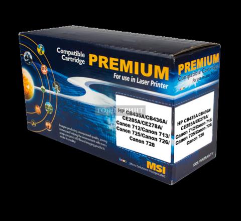 Картридж HP CB435A, CB436A, CE285A, CE278A, Canon 712, Canon 713, Canon 725, Canon 726, Canon 728 Black (Gold Print)