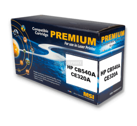Картридж HP CB540A, CE320A Black (Gold Print)