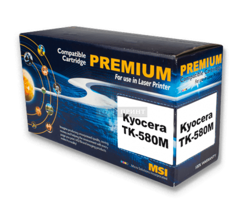 Тонер-картридж Kyocera TK-580 Magenta (Gold Print)